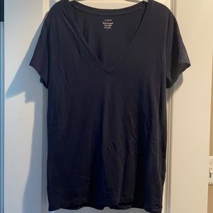 J. Crew Featherweight Slub Cotton T-Shirt; Large